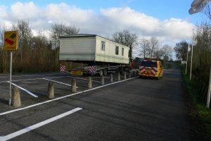 Begeleid stacaravan transport