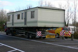 stacaravan transport met begeleiding